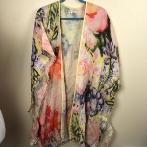 Anthropologie Blank London Shawl floral EUC O/S